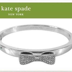 NEW Kate Spade Hinged Pave Ready Set Bow Bangle